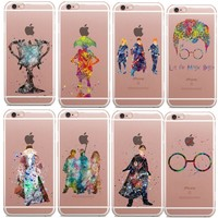 Harry Potter Watercolor Art Clear Soft silicone TPU Phone Case Cover For iPhone SE 5 5s 6 6s Plus 7 7 Plus 8 8Plus X 10