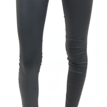 AG jeans | legging ankle vintage leatherette (light black)
