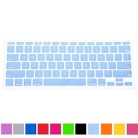 "HDE Ultra Thin Silicone Keyboard Skin for Apple Macbook Air 11"" (Sky Blue)"