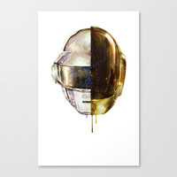 DAFTPUNK II Stretched Canvas by beart24