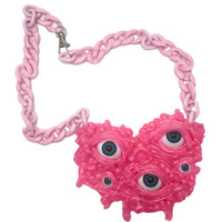 SLIME EYES NECKLACE - PINK GLITTER – tibbs & BONES