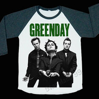 Green Day T Shirt Billie Joe Armstrong Shirt Alternative rock Shirt Baseball Shirt Long Sleeve TShirt Women TShirt Unisex TShirt Size S,M,L