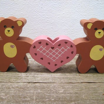 Valentine, Bear, Wood, Cutout, Pink, Heart, Candle, Holder, Teddy, Day, Decoration, Ornament, Sweetheart, Gift, Sweetest, I Love You, Gift