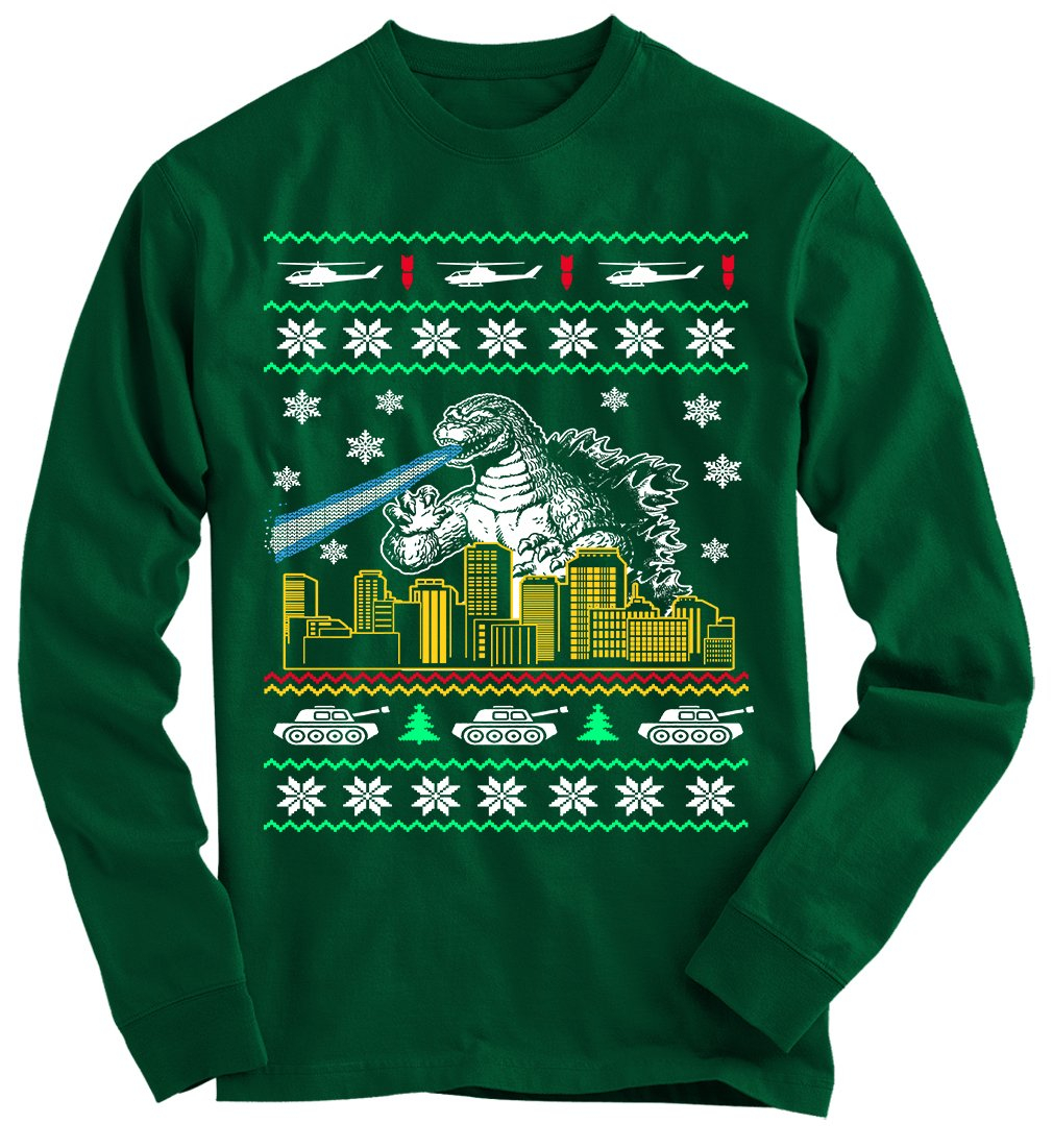 Godzilla Ugly Christmas Sweater From Gnarly Tees Clothes I Want