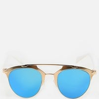 Two Tone Horned Rimmed Sunglasses