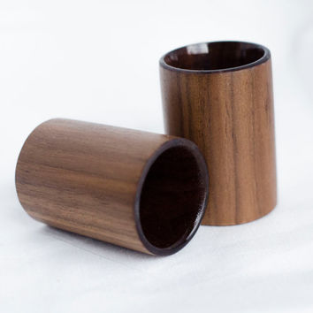 Wooden shot glass set, wood shot glass, walnut shotglass, handmade shot glass, wood shot glasses