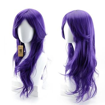 Cool2day/®70cm 300g Long Hair Curls Cosplay Wigs Party wig 12 Colors Available Red