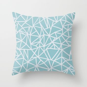 Ab Outline Salt Water Throw Pillow by Project M