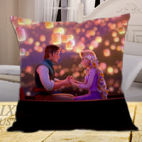 Tangled Walt Disney Animation on square pillow cover 16inch 18inch 20inch