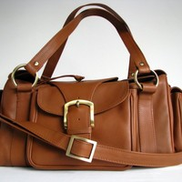 Tan Leather Bag - Satchel Messenger Style | TheLeatherStore - Bags & Purses on ArtFire