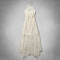 Asymmertrical Lace Maxi Dress