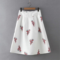 Summer Women's Fashion High Rise Cartoons Print Skirt [4920262148]
