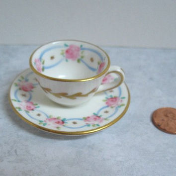 Foley Miniature Teacup and Saucer Fine Bone China Made in England