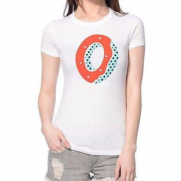 Odd Future OFWGKTA RED & BLUE DONUT Girls Junior T-Shirt NWT 100% Authentic