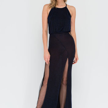 Sheer Star Power Maxi Dress