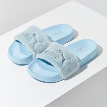 Puma Fenty by Rihanna Leadcat Faux Fur Pool Slide | Urban Outfitters