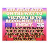 The first step on the way to victory. tablecloth