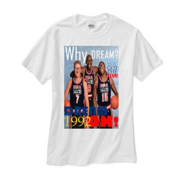 1992 NBA OLYMPIC DREAM TEAM ELITE 3 white tee