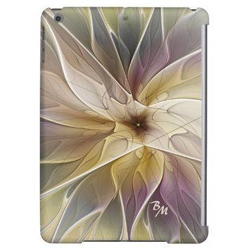 Floral Fantasy Pattern Abstract Fractal Monogram iPad Air Cover