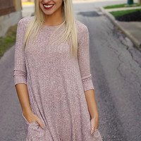 Just About Anywhere Dress - Mauve