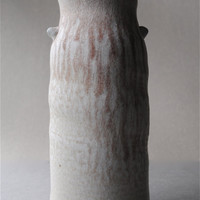 Soda Fired Vase With Red Drips