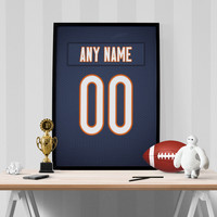 Chicago Bears Jersey Poster - Print Personalized Select ANY Name & ANY Number