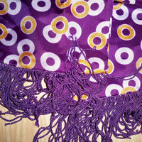 Vintage Purple Scarf  ChaCha and Circles by eclecticnesting