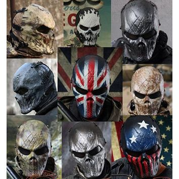 TACTICAL GEAR M06 AIRSOFT PAINTBALL COSPLAY FULL FACE PROTECTION SKULL MASK MULTI COLORS