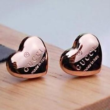 GUCCI Stylish Women Chic Heart Earrings Accessories Jewelry