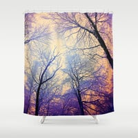 Snow Angel's View - Nature's Painting (color 2) Shower Curtain by soaring anchor designs ⚓