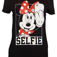 DIsney Minnie Mouse Selfie Juniors T-shirt