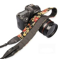 FOME SLR/DSLR Flower Camera Neck Shoulder Strap Belt - Yellow+ FOME Gift