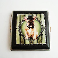 Dog Pug cigarette case, A cute dog cigarette case 84 mm. storage cigarettes, case 20 cigarettes, tobacco accessory, cigarette storage