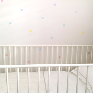 Polka Dot - Multi-coloured Spots - Removable Nursery Wall Decals