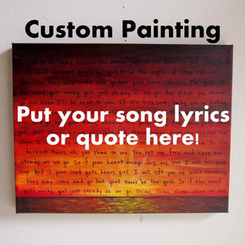 Personalized Art Canvas Paintings - Wedding Song Art Lyrics on Canvas Custom Painting - Love Quotes Wall Art Wedding Gifts Anniversary Gifts