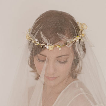 Vintage Inspired Wax Orange Blossom Bridal by EricaElizabethDesign