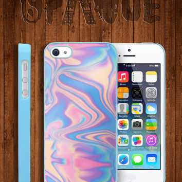 Pastel Metallic Oil Print Apple iPhone 5 5s & 4 4s Durable Hard Case - In Multiple Colours - Dope Hipster Indie Grunge Vintage Tumblr