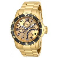 Invicta 15343 Men's Pro Diver Quartz Gold Dial Multifunction Gold Plated Dive Watch