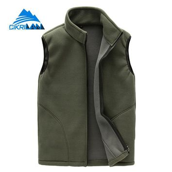 Outdoor Tactical Fishing Cycling Vest Men Hiking Fleece Vests Full Zip Chaleco Hombre Camping Sports Waistcoats Climbing Gilet