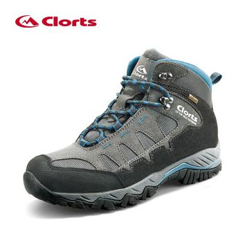 Clorts Winter Sneakers for Men Leather Outdoor Shoes Waterproof Men's Hiking Shoes Mountain Man Boots Tactical Sneakers HKM-823