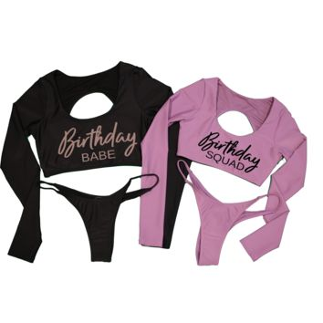 Birthday Babe Bikini Set - Huntington Top & Huntington Bottom