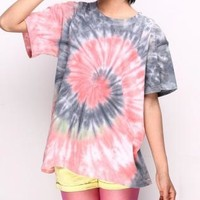 Pink And Black Vortex Tie-dyed T-shirt