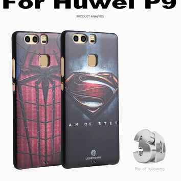 For Huawei P9 Case Cover 3D Stereo Relief Painting TPU Soft Back Covers For Huawei P9 Cases Phone Accessories