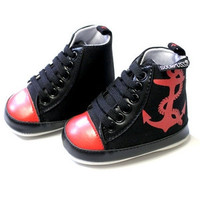 Red / Black Anchor Shoes