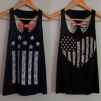 2017 Womens Lady Summer Vest Top Sleeveless Casual Tank Tops Bow Cute