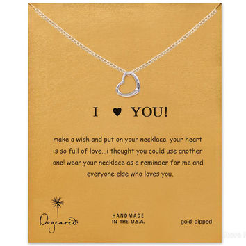 New Arrival Gift Stylish Jewelry Shiny Silver Hollow Out Alloy Lock Necklace [7992532545]