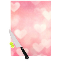"Heidi Jennings ""Love is in the Air"" Pink Cutting Board"