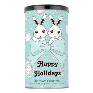 Cute Bunny Twins and Snowflakes Kids Hot Chocolate Drink Mix