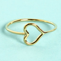 Heart-y Pants Gold Heart Ring