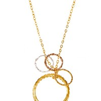 "Charlene K 17"" Stackable Multi Circle Pendant Necklace"